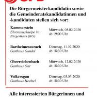 Termine der SPD-Tour durch die Gemeinde